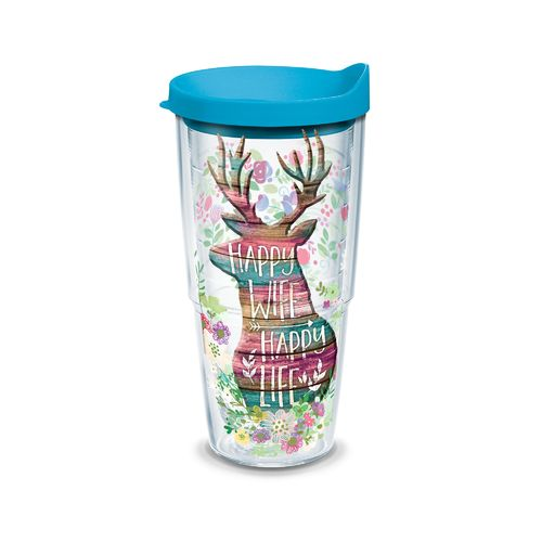 Tervis Happy Wife Happy Life 24 oz. Tumbler