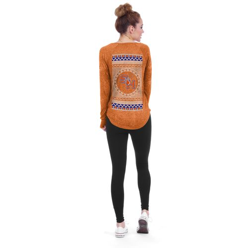 Chicka-d Women's Sam Houston State University Favorite V-neck Long Sleeve Shirt