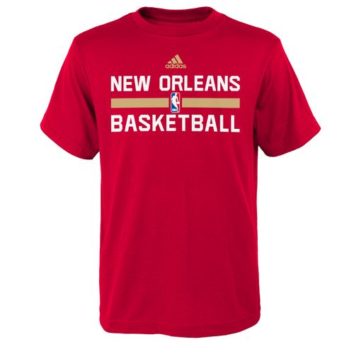 adidas™ Boys' New Orleans Pelicans Practice Wear Graphic T-shirt