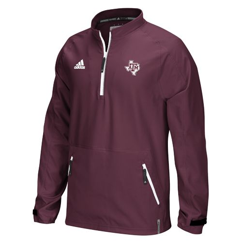 adidas™ Men's Texas A&M University Sideline Woven 1/4 Zip Pullover