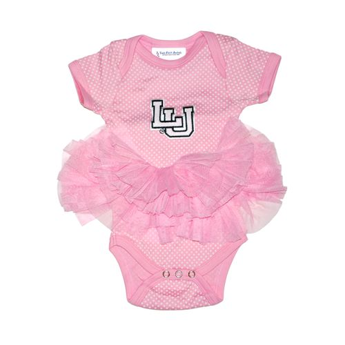 Two Feet Ahead Infant Girls' Lamar University Pin Dot Tutu Creeper - view number 1