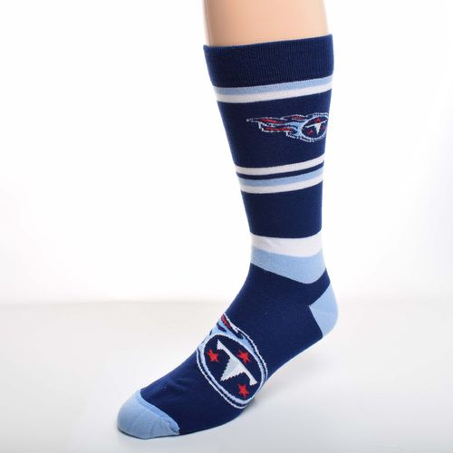 For Bare Feet Men's Tennessee Titans Squad Stripe Dress Socks