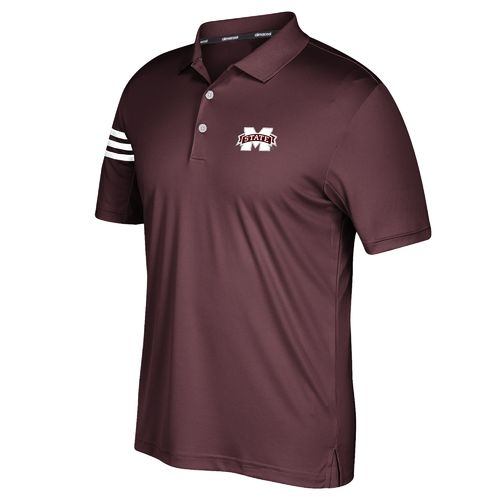 adidas Men's Mississippi State University 3-Stripe Polo Shirt