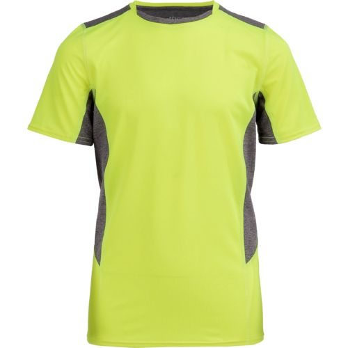 BCG Boys' Fitted Compression Colorblock Crew Training T-shirt