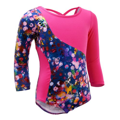 Capezio® Girls' Future Star Light Brights 3/4 Sleeve Leotard