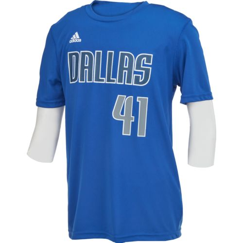 NBA Boys' Dallas Mavericks Dirk Nowitzki #41 Flat Player T-shirt
