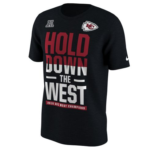 Nike™ Men's Kansas City Chiefs NFL Division Champs 2016 Short Sleeve T-shirt