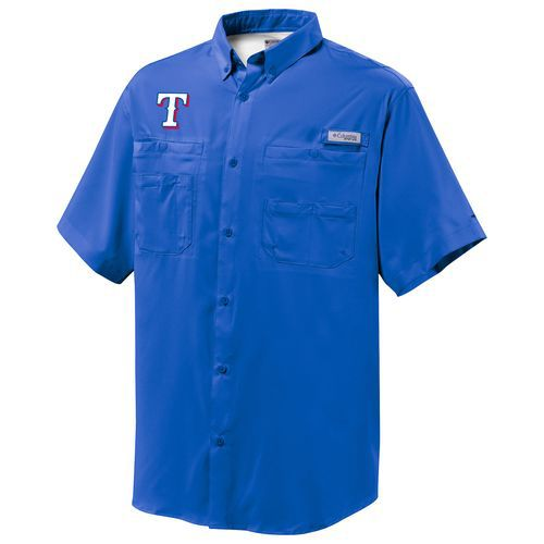 Columbia Sportswear Men's Texas Rangers Tamiami Short Sleeve Shirt