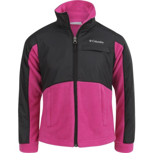 Columbia Sportswear Girls' Benton Springs III Overlay Fleece Jacket