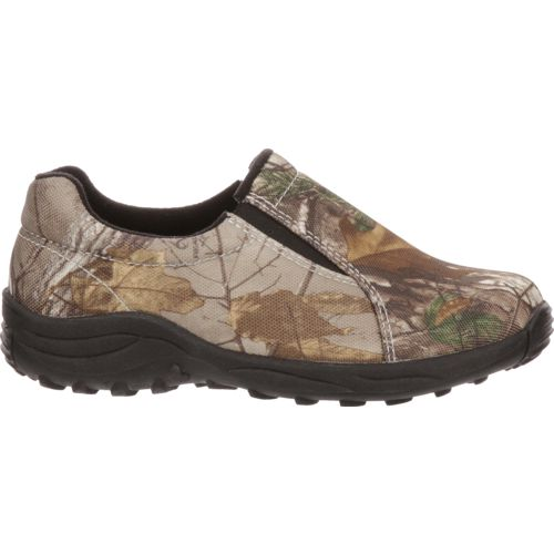 Display product reviews for Magellan Outdoors Boys' Camo Moc II Slip-On Shoes