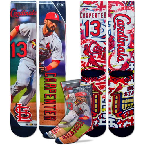 For Bare Feet Unisex St. Louis Cardinals Matt Carpenter Player Socks