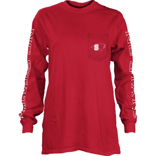 Three Squared Juniors' North Carolina State University Mystic Long Sleeve T-shirt