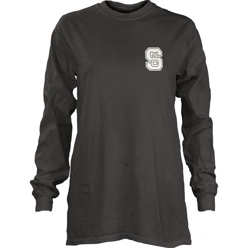 Three Squared Juniors' North Carolina State University Tower Long Sleeve T-shirt - view number 2