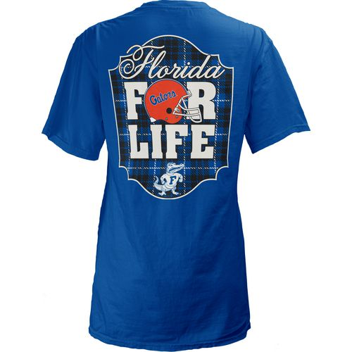 Three Squared Juniors' University of Florida Team For Life Short Sleeve V-neck T-shirt
