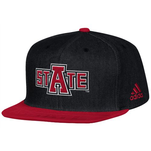 adidas Men's Arkansas State University Sideline Player Flat Brim Snapback 2-Tone Cap