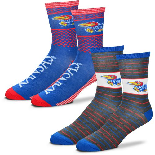 For Bare Feet Men's University of Kansas Father's Day Socks