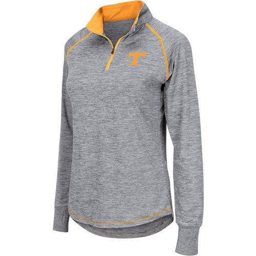 Colosseum Athletics Women's University of Tennessee Bikram 1/4 Zip Long Sleeve T-shirt