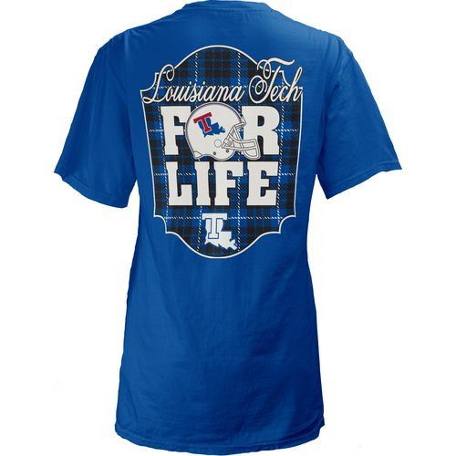 Three Squared Juniors' Louisiana Tech University Team For Life Short Sleeve V-neck T-shirt - view number 1