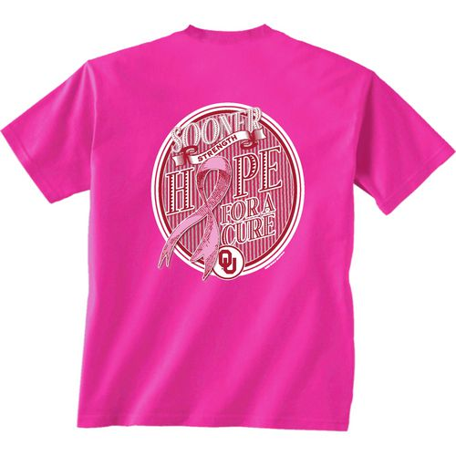 New World Graphics Women's University of Oklahoma Breast Cancer Hope T-shirt