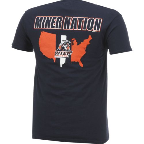 New World Graphics Men's University of Texas at El Paso Stripe Nation T-shirt - view number 2