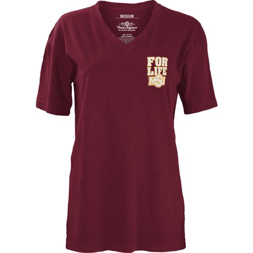 Three Squared Juniors' Midwestern State University Team For Life Short Sleeve V-neck T-shirt - view number 2