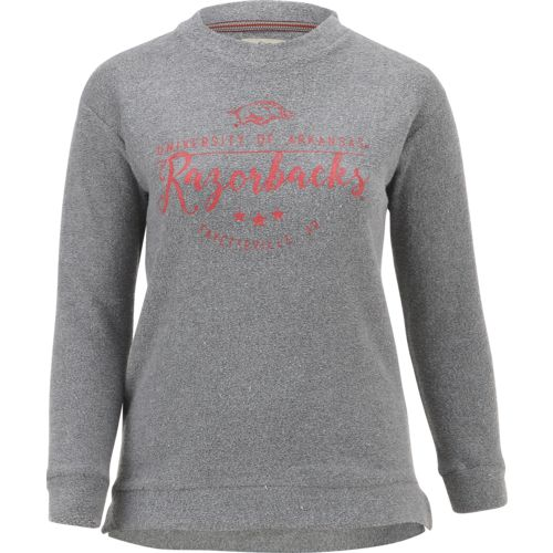 Three Squared Juniors' University of Arkansas Finley Comfy Terry Pullover