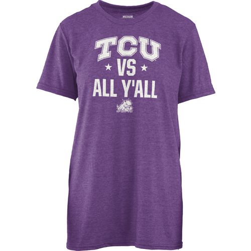 Three Squared Women's Texas Christian University Vs. All Y'all T-shirt