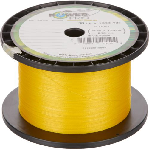 PowerPro 30 lb - 1,500 yds High-Vis Yellow Braided Line - view number 1