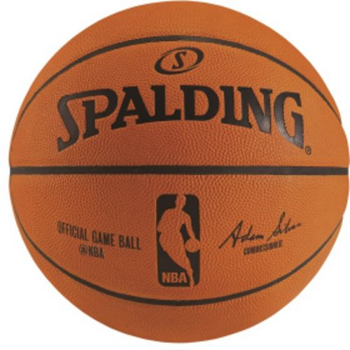 Spalding Official NBA On-Court Leather Indoor Game Basketball