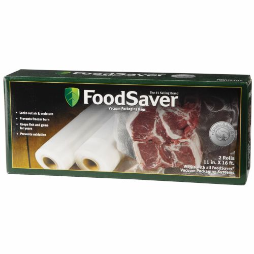 "FoodSaver GameSaver® 11"" x 16' Vacuum Packaging Bag Rolls 2-Pack"