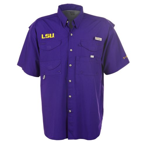 Image for Columbia Sportswear Men's Collegiate Bonehead™ Louisiana State University Shirt from Academy