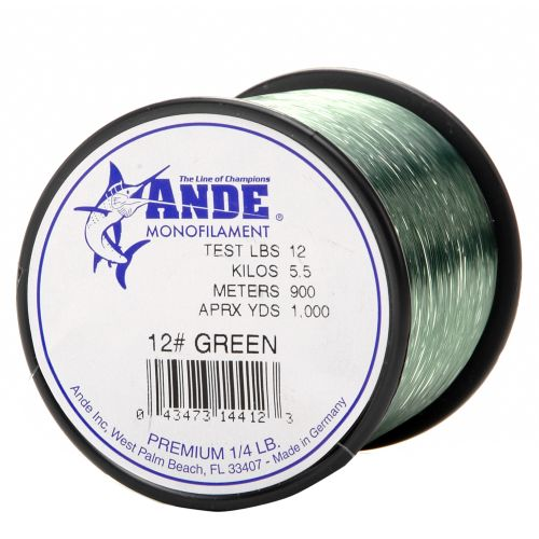ANDE® Premium 12 lb. - 1,000 yards Monofilament