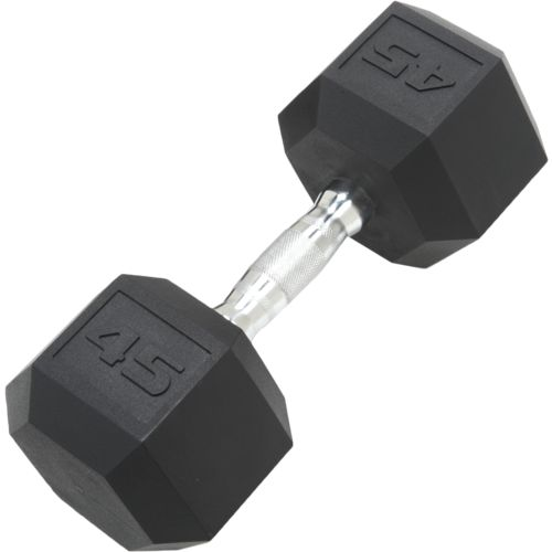 CAP Barbell 45 lb. Coated Hex Dumbbell