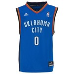 adidas Boys' Oklahoma City Thunder Revolution 30 Russell Westbrook Replica Road Jersey