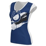 Reebok Women's  Indianapolis Colts Face Paint Split Neck T-shirt
