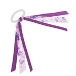 Soffe Camo Grape Peace Sign Ribbon Scrunch