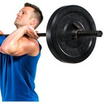 CAP Barbell Bumper Plates and Power Bar Set - view number 2