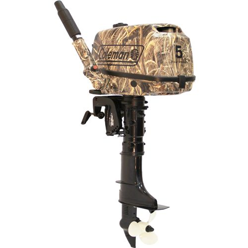 Coleman  5 HP 4-Stroke OHV Camouflage Outboard Motor