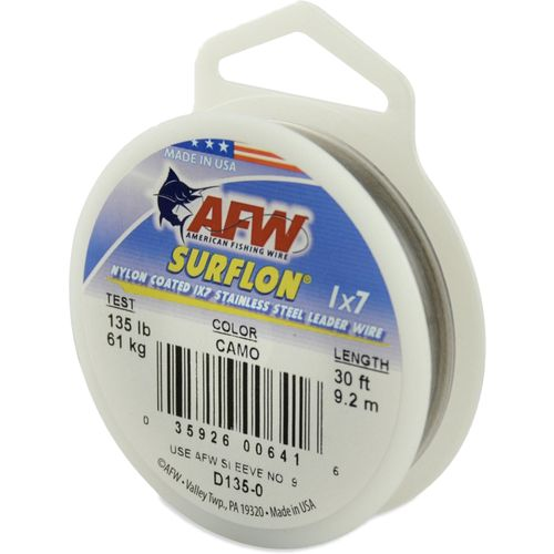 American Fishing Wire Surflon 15 lbs - 30 ft Leader Wire - view number 1