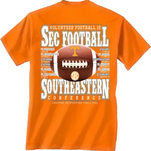 New World Graphics Adults' University of Tennessee SEC Football Schedule T-shirt - view number 1