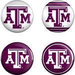 WinCraft Texas A&M University Buttons 4-Pack
