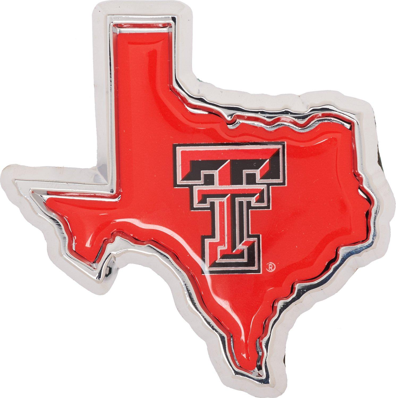 Stockdale Texas Tech University Chrome Metal Auto Emblem