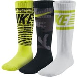Nike Boys' Graphic Cotton Cushion Crew Socks 3-Pack