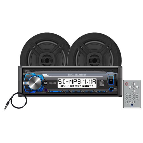 Dual MCP103B 240W Mechless Marine Receiver with Speakers