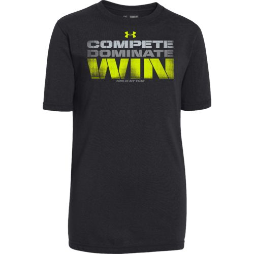 Under armour boys 39 compete dominate win t shirt academy for Academy under armour shirts