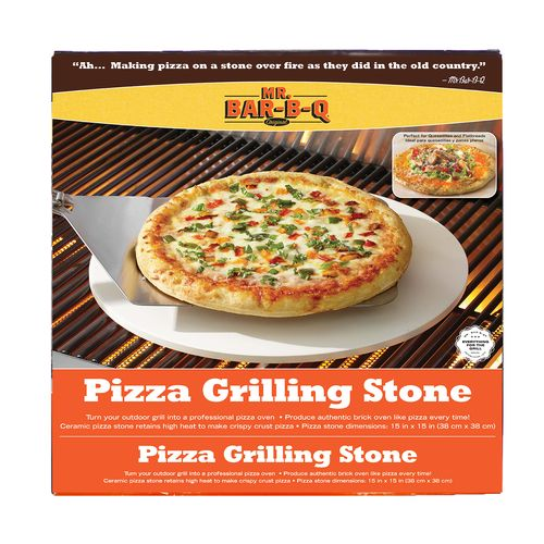 "Mr. Bar-B-Q 15"" Round Pizza Baking Stone"