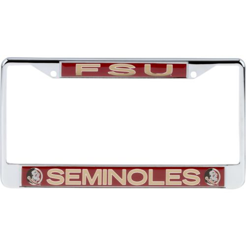 Stockdale Florida State University Metal Chrome License Plate
