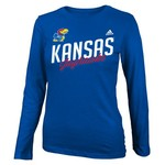 adidas Girls' University of Kansas Tried and True Long Sleeve Fashion Fit T-shirt