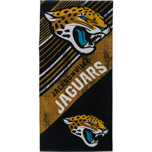 NFL Jacksonville Jaguars Diagonal Sports Beach Towel