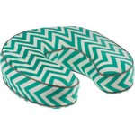 Northpoint Trading Piping Memory Foam Travel Pillow